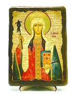 Нина Св.Рн.Ап., икона под старину, на дереве (13х17)