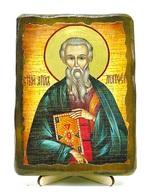 Евангелист Матфей, икона под старину, на дереве (13х17)