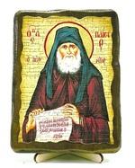Паисий Святогорец, икона под старину, на дереве (13х17)