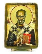 Николай Чудотворец, икона под старину, на дереве (13х17)
