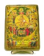 Все Святые, икона под старину, на дереве (13х17)