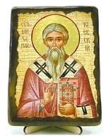 Михаил Митрополит Киевский, икона под старину, на дереве (13х17)