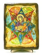 Неопалимая Купина Б.М., икона под старину, на дереве (13х17)