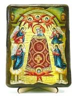 Прибавление ума Б.М., икона под старину, на дереве (13х17)