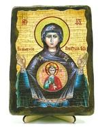 Знамение Б.М., икона под старину, на дереве (13х17)