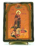 Георгиевская Б.М., икона под старину, на дереве (13х17)