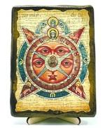 Всевидящее око, икона под старину, на дереве (13х17)