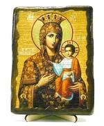 Самонаписавшаяся Б.М., икона под старину, на дереве (13х17)