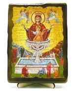 Живоносный источник Б.М., икона под старину, на дереве (13х17)