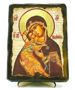 Владимирская Б.М., икона под старину, на дереве (13х17)