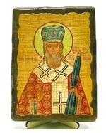 Иннокентий, Святитель, икона под старину, на дереве (13х17)