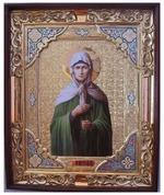 Матрона Московская, с багетом. Храмовая икона (54 Х 66)