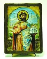 Ярослав Мудрый, икона под старину, на дереве (13х17)