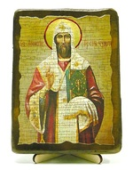Леонтий, Св.Муч, икона под старину, на дереве (13х17)
