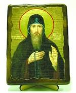 Захарий Печерский,Св.Прп., икона под старину, на дереве (13х17)