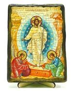 Воскресение Христово, икона под старину, на дереве (13х17)