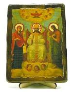 Царь Славы, икона под старину, на дереве (13х17)