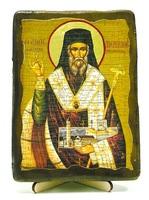 Дионисий Закинфский, икона под старину, на дереве (13х17)