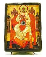 Отечество, икона под старину, на дереве (13х17)
