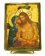 Не рыдай Мене, Мати, икона под старину, на дереве (13х17)