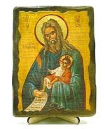 Симеон Богоприимец, икона под старину, на дереве (13х17)