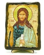 Иоанн Предтеча, икона под старину, на дереве (13х17)