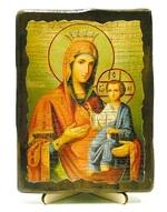 Иверская Б.М., икона под старину, на дереве (13х17)
