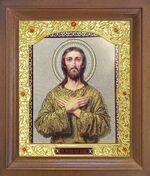 Алексий, человек Божий. Икона в деревянной рамке с окладом (Д-26псо-97)