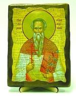 Мирон Кизический, икона под старину, на дереве (13х17)