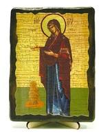 Геронтисса Б.М., икона под старину, на дереве (13х17)