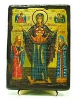 Мирожская Б.М., икона под старину, на дереве (13х17)