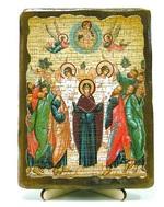 Вознесение Господне, икона под старину, на дереве (13х17)