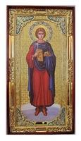 Валерий, Святой мученик (рост), с багетом. Большая Храмовая икона (58 х 110)