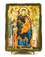 Экономисса Б.М.(с предстоящими), икона под старину, на дереве (13х17)