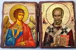 Ангел Хранитель и Николай Чудотворец. Складень под старину 13Х17
