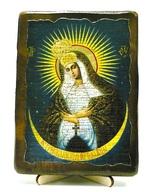 Остробрамская Б.М., икона под старину, на дереве (13х17)
