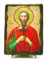 Назарий, Св.Муч, икона под старину, на дереве (13х17)