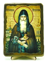 Агапит Печерский, икона под старину, на дереве (13х17)