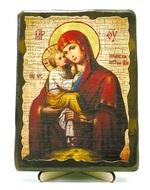 Почаевская Б.М., икона под старину, на дереве (13х17)
