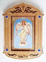 Ангел Хранитель. Икона настольная, резная, фигурная, JERUSALEM