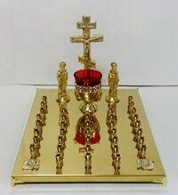 Крышка панихидного стола на 36 свечей, с херувимами