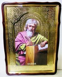 Евангелист Матфей, в фигурном киоте, с багетом. Храмовая икона 80 Х 110 см.