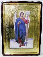 Арх. Гавриил, в фигурном киоте, с багетом. Храмовая икона 80 Х 110 см.