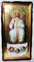 Царь Славы, в фигурном киоте, с багетом. Храмовая икона 60 Х 114 см.