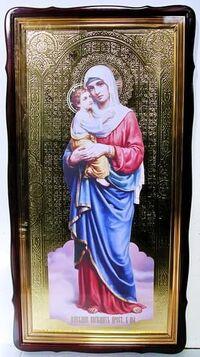Взыскание погибших Б.М., в фигурном киоте, с багетом. Храмовая икона 60 Х 114 см.