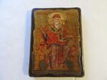 Спиридон Тримифунтский (трон), икона под старину, сургуч (17Х23)