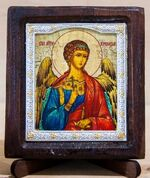 Ангел Хранитель, Икона Византикос, полуоклад, 8Х6