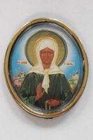Матрона Московская. Икона автомобильная овал