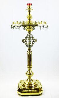 Подсвечник на 52 свечи восьмигранный, с высокой лампадой, с литьем