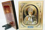 Николай Чудотворец, икона настольная 3D, объемное изображение (10 Х 12). Партия 50 шт.
